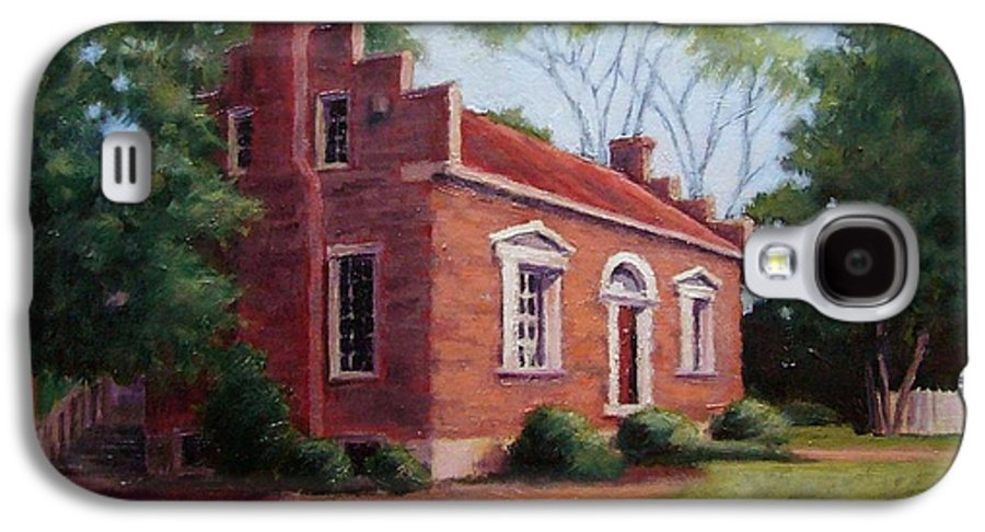 Carter House Galaxy S4 Case featuring the painting Carter House In Franklin Tennessee by Janet King