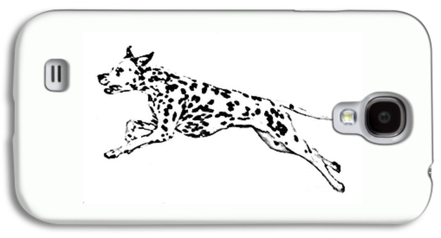 Dogs Galaxy S4 Case featuring the drawing Celebrate by Jacki McGovern