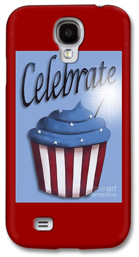 Art Galaxy S4 Case featuring the painting Celebrate The 4th / Blue by Catherine Holman