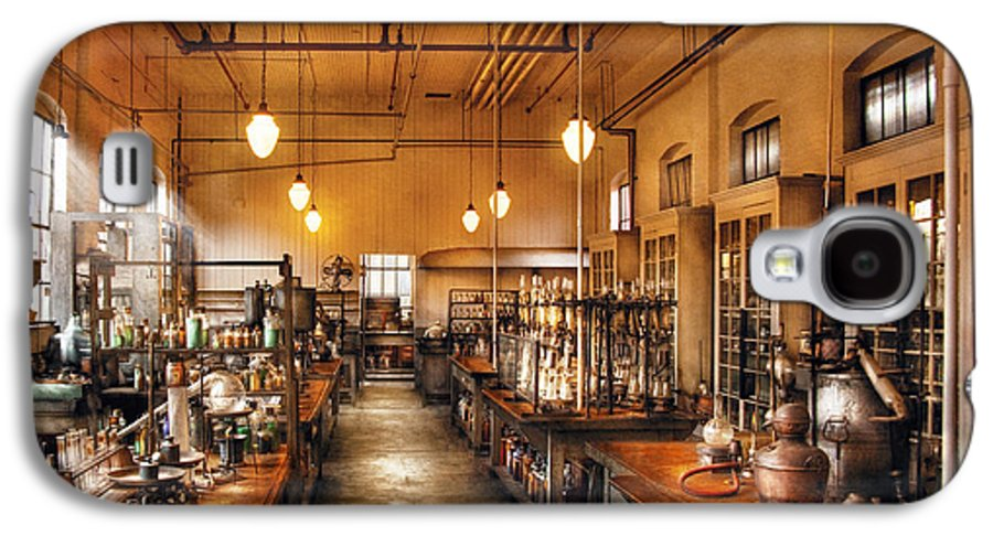 Savad Galaxy S4 Case featuring the photograph Chemist - The Chem Lab by Mike Savad