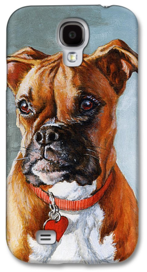 Boxer Galaxy S4 Case featuring the painting Cheyenne by Richard De Wolfe
