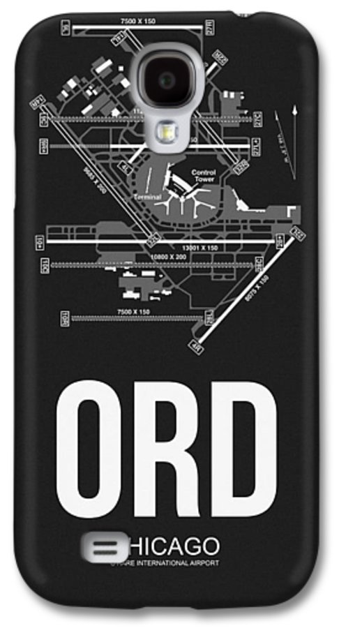 Chicago Galaxy S4 Case featuring the digital art Chicago Airport Poster by Naxart Studio