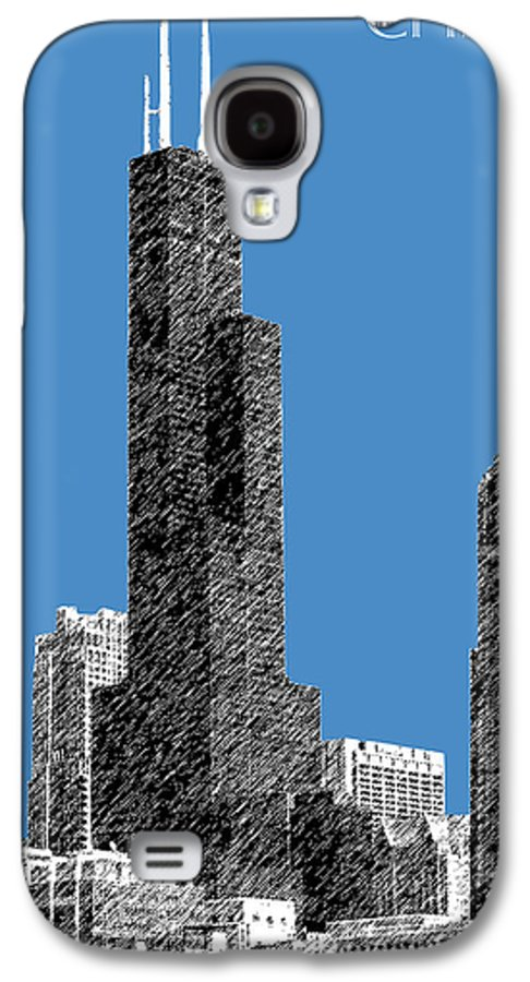 Architecture Galaxy S4 Case featuring the digital art Chicago Sears Tower - Slate by DB Artist