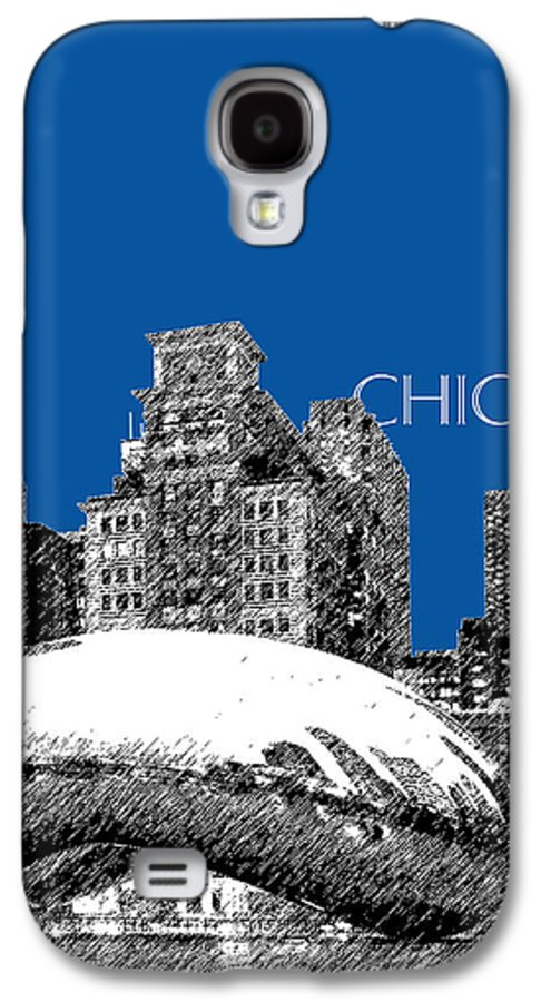 Architecture Galaxy S4 Case featuring the digital art Chicago The Bean - Royal Blue by DB Artist