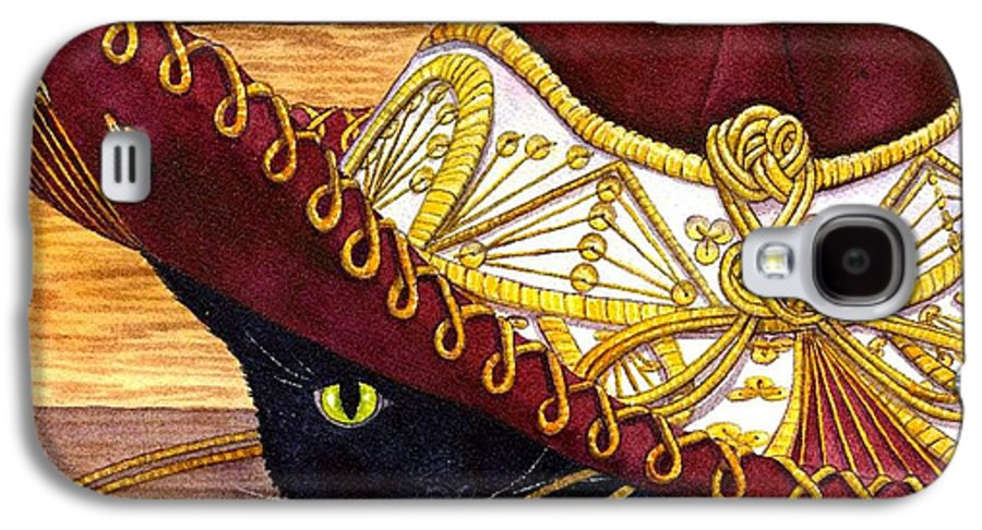 Cat Galaxy S4 Case featuring the painting Cinco De Mayo by Catherine G McElroy