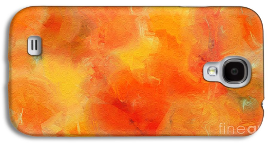 Andee Design Abstract Galaxy S4 Case featuring the digital art Citrus Passion - Abstract - Digital Painting by Andee Design