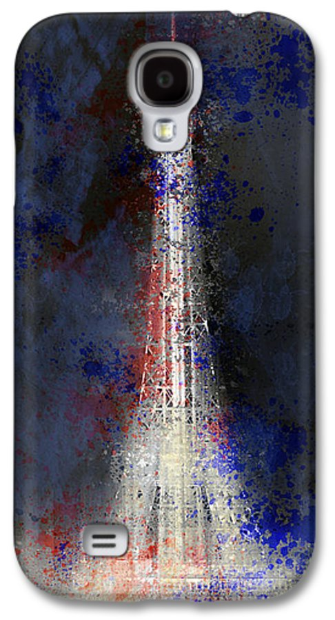 Europe Galaxy S4 Case featuring the photograph City-art Paris Eiffel Tower In National Colours by Melanie Viola