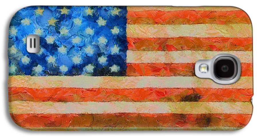 Old Glory Galaxy S4 Case featuring the painting Civil War Flag by Dan Sproul