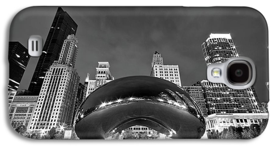 3scape Galaxy S4 Case featuring the photograph Cloud Gate And Skyline by Adam Romanowicz