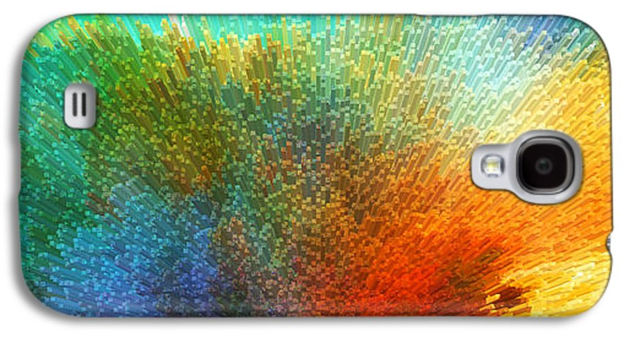 Space Galaxy S4 Case featuring the painting Color Infinity - Abstract Art By Sharon Cummings by Sharon Cummings