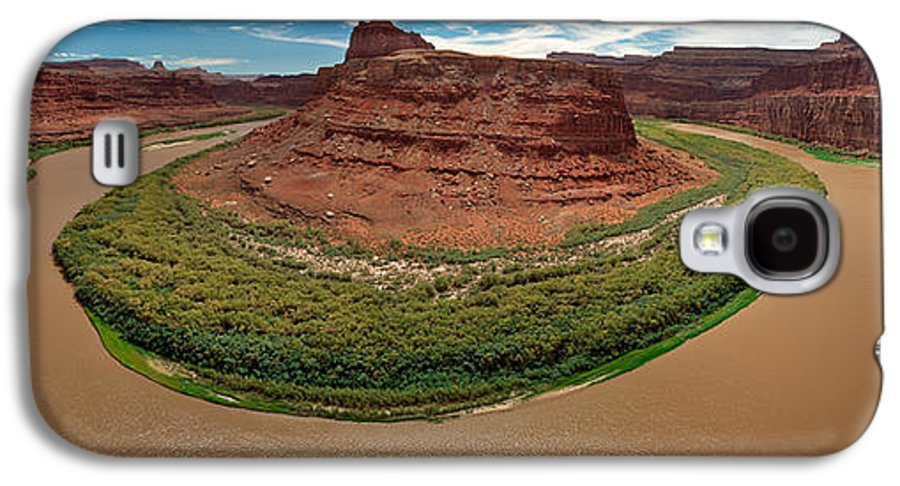 3scape Photos Galaxy S4 Case featuring the photograph Colorado River Gooseneck by Adam Romanowicz