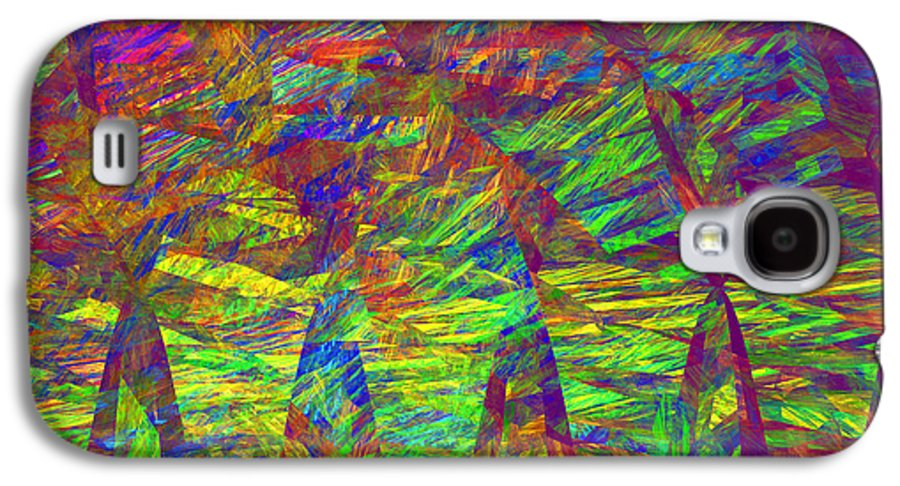 Translucent Galaxy S4 Case featuring the photograph Colorful Computer Generated Abstract Fractal Flame by Keith Webber Jr