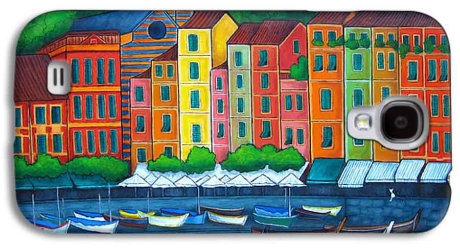 Portofino Galaxy S4 Case featuring the painting Colours Of Portofino by Lisa Lorenz