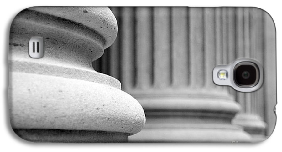 Black & White Galaxy S4 Case featuring the photograph Columns by Tony Cordoza
