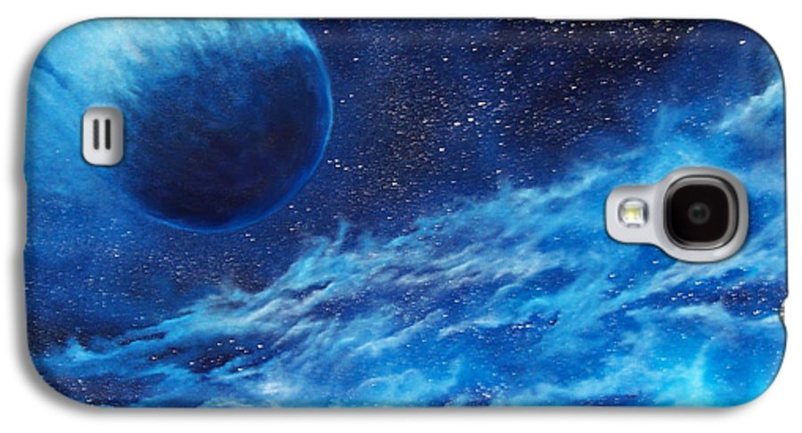 Astro Galaxy S4 Case featuring the painting Comet Experience by Murphy Elliott