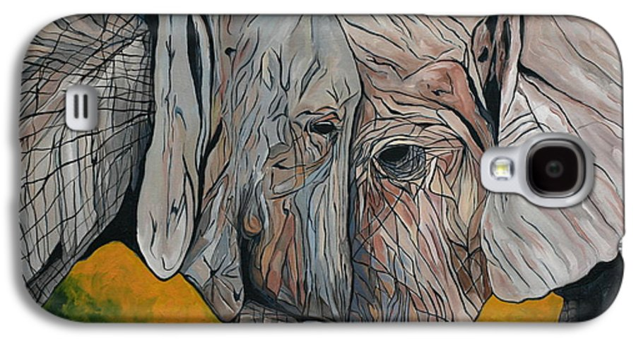 Elephant Galaxy S4 Case featuring the painting Comfort by Aimee Vance