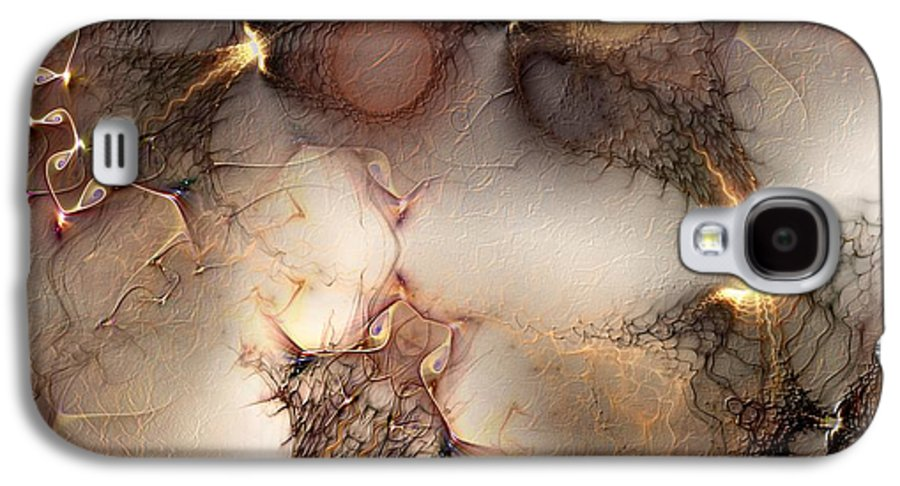 Abstract Galaxy S4 Case featuring the digital art Controversy by Casey Kotas
