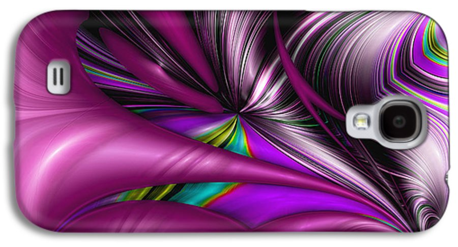 Abstract Galaxy S4 Case featuring the digital art Counterpoint by Wendy J St Christopher