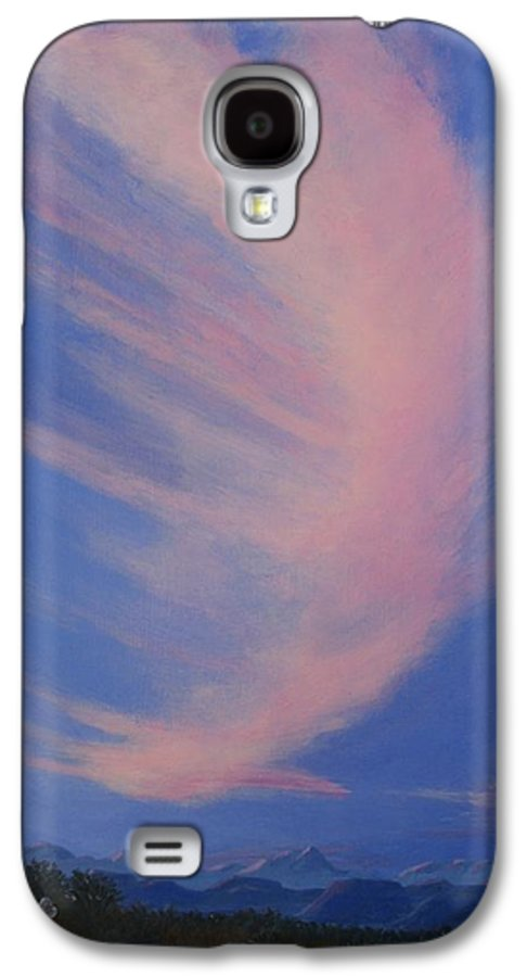 Western Galaxy S4 Case featuring the painting Cowboy Wakeup Call by Janis Mock-Jones
