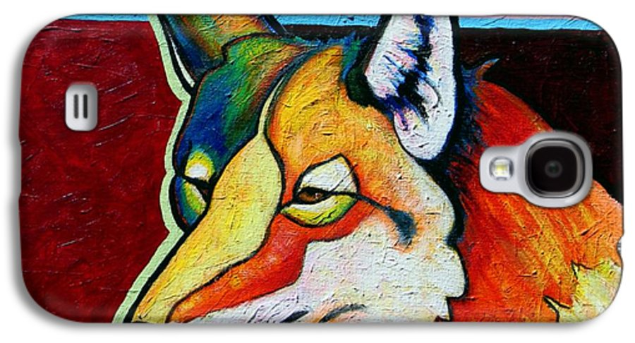 Wildlife Galaxy S4 Case featuring the painting Coyote Portrait by Joe Triano