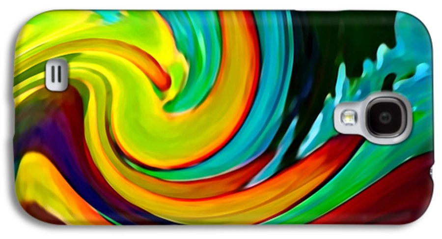 Waves Galaxy S4 Case featuring the painting Crashing Wave by Amy Vangsgard
