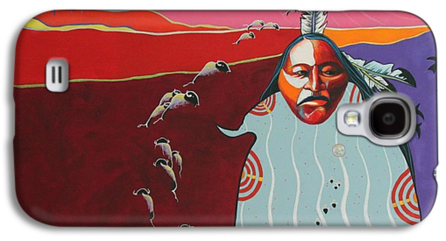 Native American Galaxy S4 Case featuring the painting Creation by Joe Triano
