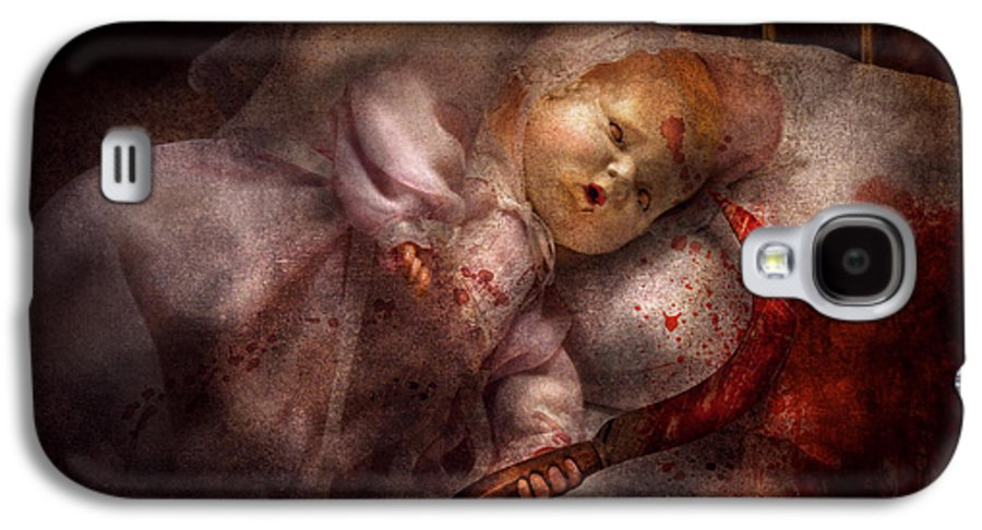 Doll Galaxy S4 Case featuring the digital art Creepy - Doll - Night Terrors by Mike Savad