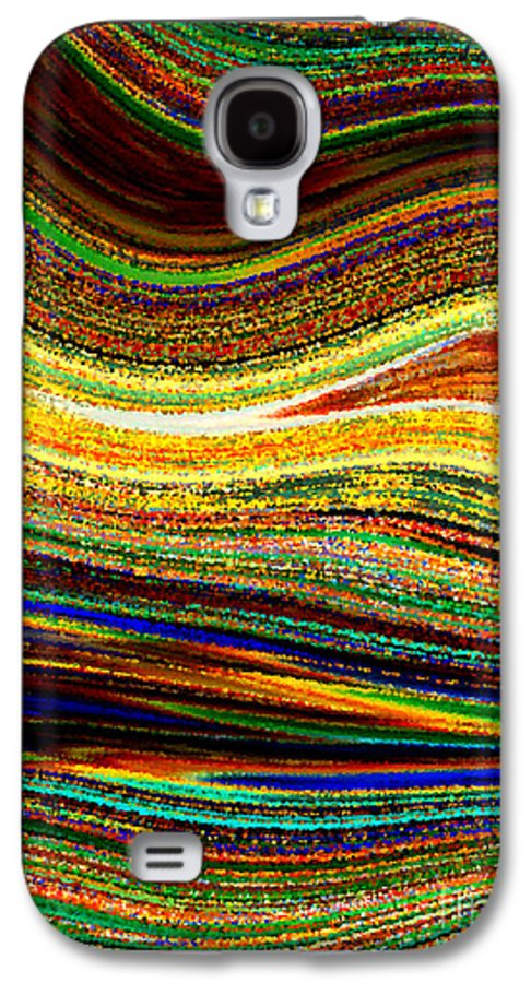 Abstract Galaxy S4 Case featuring the photograph Crystal Waves Abstract 1 by Carol Groenen