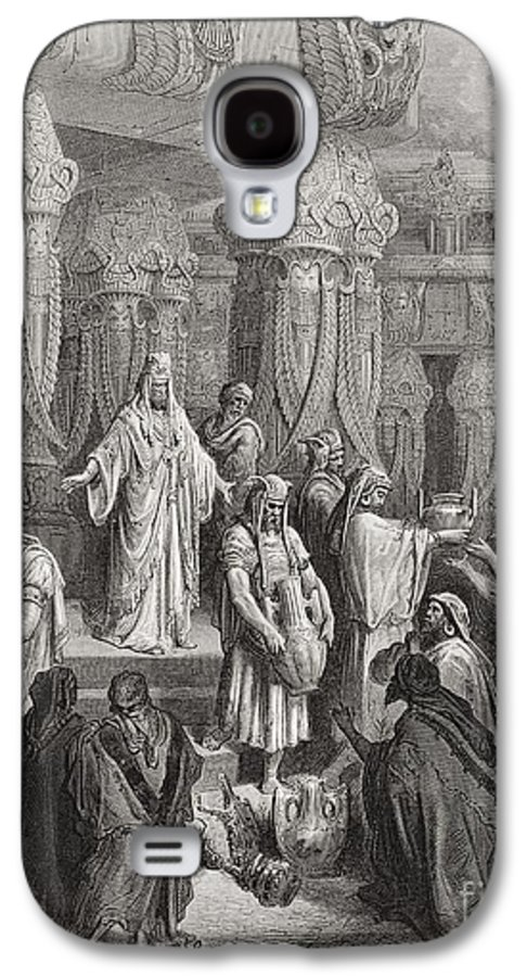 King Of The Persians Galaxy S4 Case featuring the painting Cyrus Restoring The Vessels Of The Temple by Gustave Dore