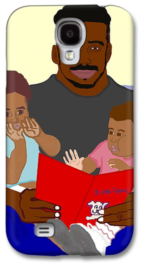Dad Galaxy S4 Case featuring the painting Daddy's Bundles by Pharris Art