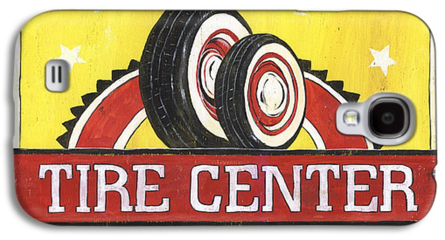 Dad Galaxy S4 Case featuring the painting Dad's Tire Center by Debbie DeWitt