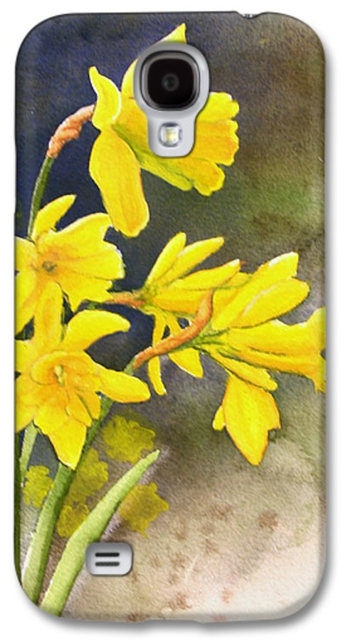 Rick Huotari Galaxy S4 Case featuring the painting Daffodils by Rick Huotari