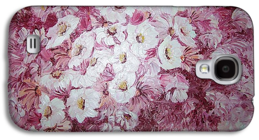 Galaxy S4 Case featuring the painting Daisy Blush by Karin Dawn Kelshall- Best