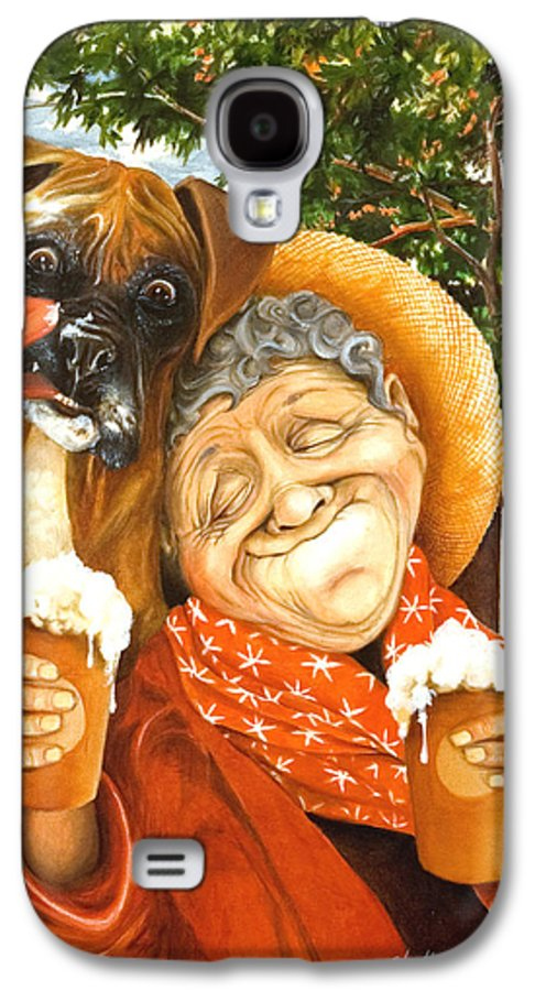Boxer Galaxy S4 Case featuring the painting Daisy's Mocha Latte by Shelly Wilkerson