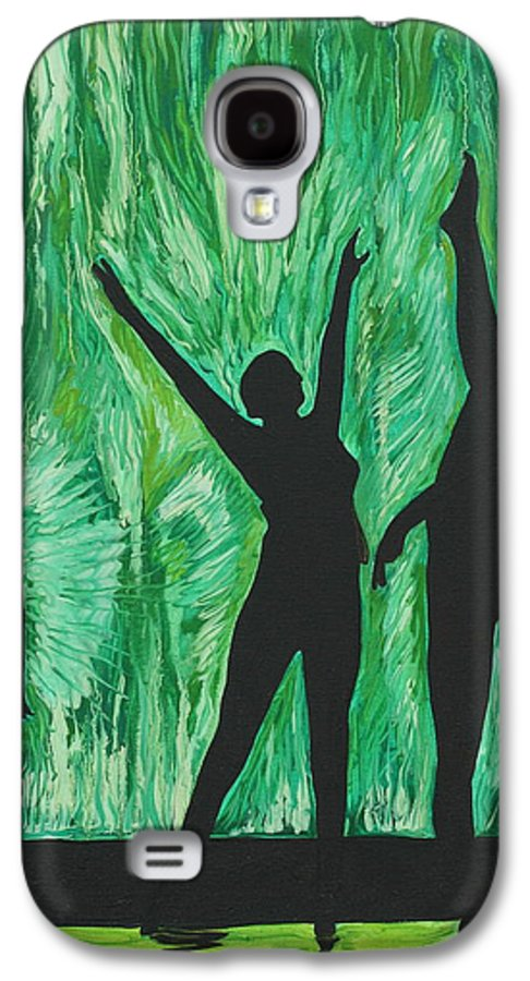 Abstract Galaxy S4 Case featuring the painting Dance by Aimee Vance