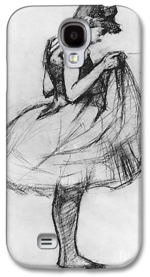 Ballet Galaxy S4 Case featuring the drawing Dancer Adjusting Her Costume And Hitching Up Her Skirt by Henri de Toulouse-Lautrec