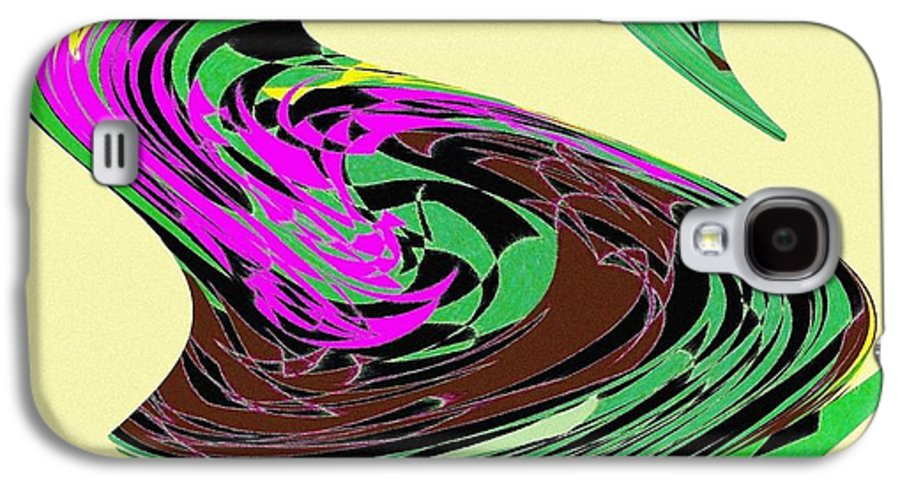 Abstract Galaxy S4 Case featuring the digital art Dancing Goose 2 by Will Borden