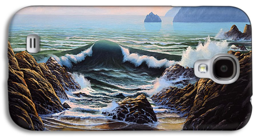Seascape Galaxy S4 Case featuring the painting Dancing Tide by Frank Wilson