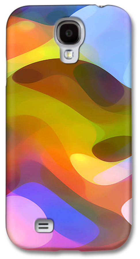 Abstract Art Galaxy S4 Case featuring the painting Dappled Light 5 by Amy Vangsgard