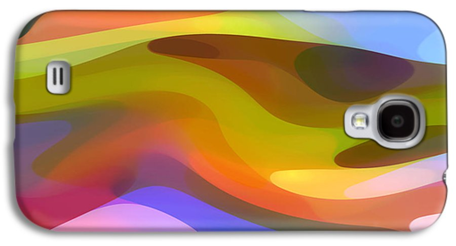 Abstract Art Galaxy S4 Case featuring the painting Dappled Light 9 by Amy Vangsgard