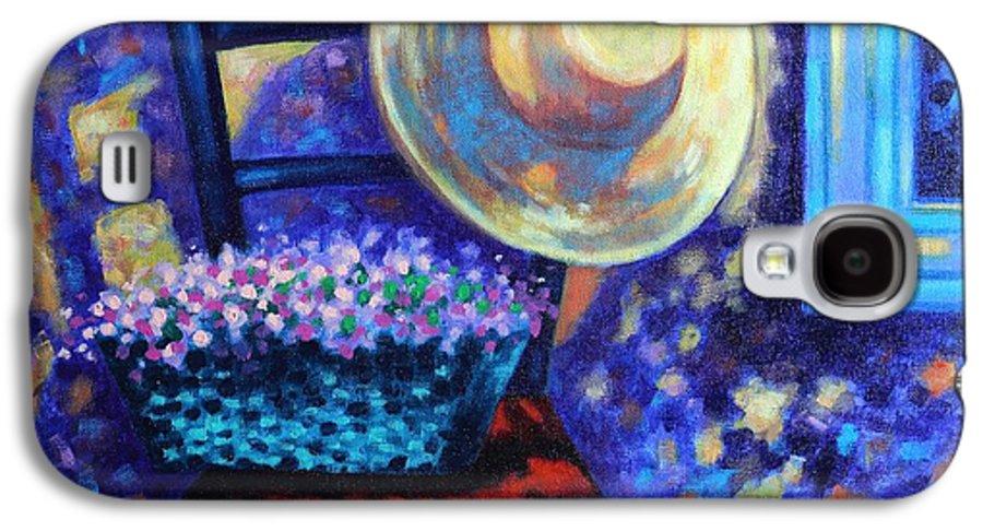 Acrylic Galaxy S4 Case featuring the painting Dappled Suntrap by John Nolan