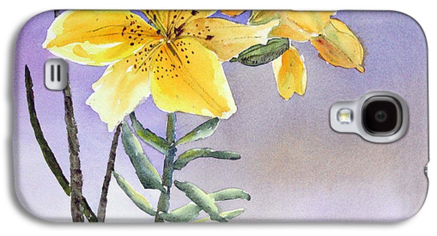 Lily Galaxy S4 Case featuring the painting Daylilies by Patricia Novack