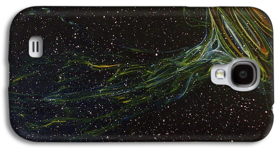 Abstract Galaxy S4 Case featuring the painting Death Throes by Sean Connolly