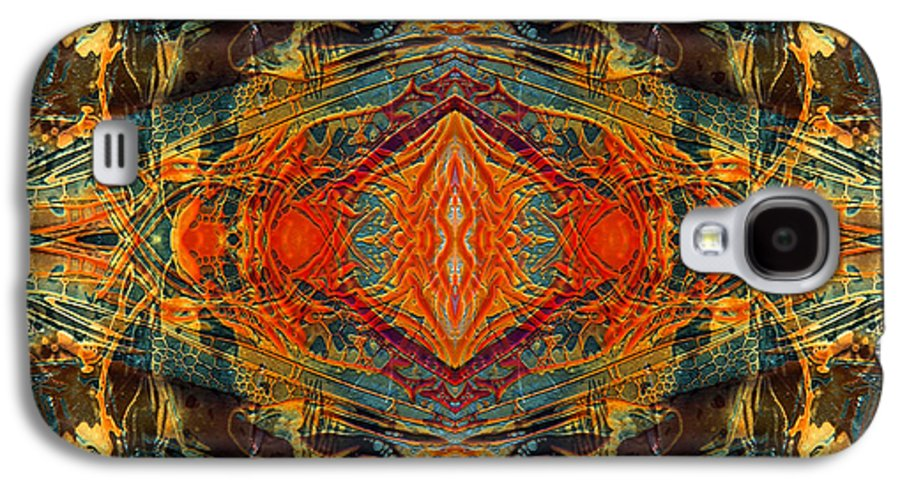 Surrealism Galaxy S4 Case featuring the digital art Decalcomaniac Intersection 2 by Otto Rapp