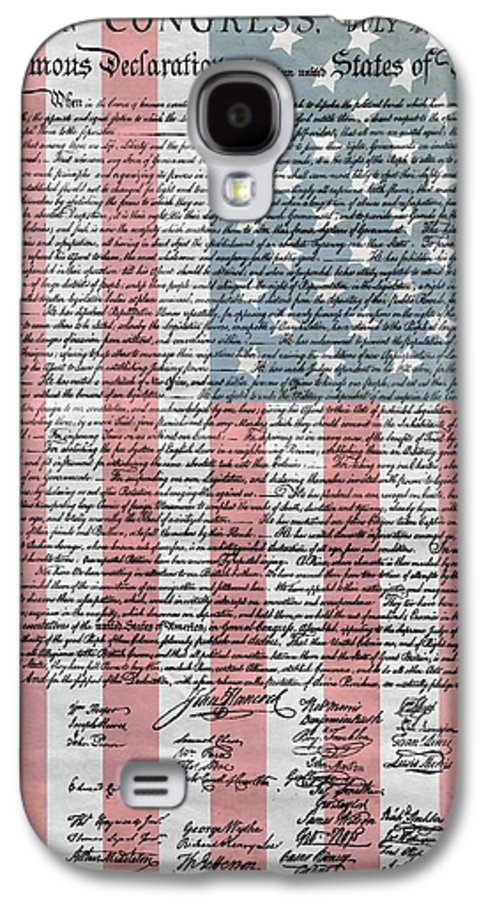 Declaration Of Independence Galaxy S4 Case featuring the mixed media Declaration Of Independence by Dan Sproul