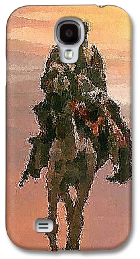 Landscape.desert.dusty Sun.camel.bedouin.sand.dusty.hot.dry.shadow. Galaxy S4 Case featuring the digital art Desert. Bedouin. by Dr Loifer Vladimir
