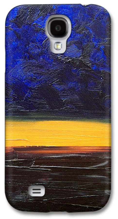 Landscape Galaxy S4 Case featuring the painting Desert Plains by Sergey Bezhinets
