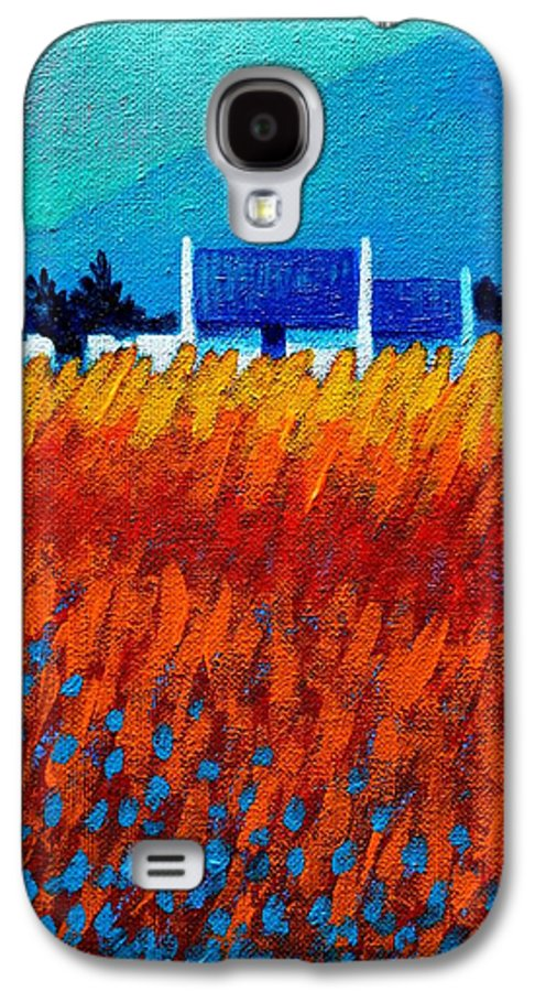 Acrylic Galaxy S4 Case featuring the painting Detail From Golden Wheat Field by John Nolan