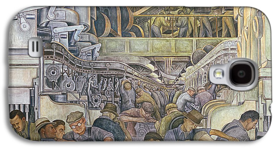 Machinery Galaxy S4 Case featuring the painting Detroit Industry North Wall by Diego Rivera