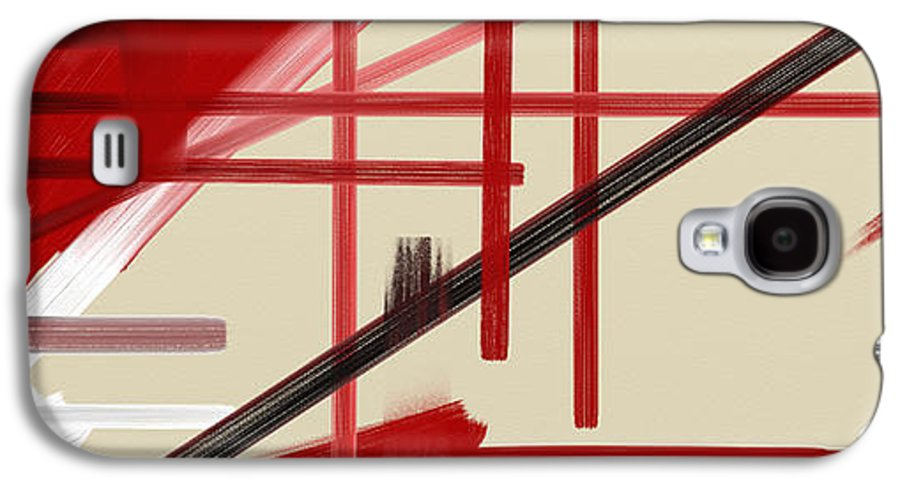 Abstract Galaxy S4 Case featuring the painting Different Dimensions 9 by Arie Van der Wijst